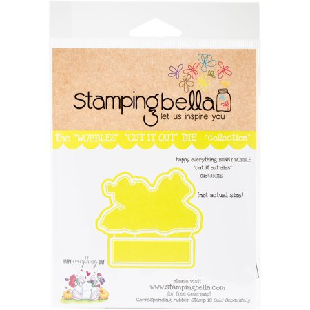 Stamping Bella Cut It Out Dies-Happy Everything Bunny Wobble