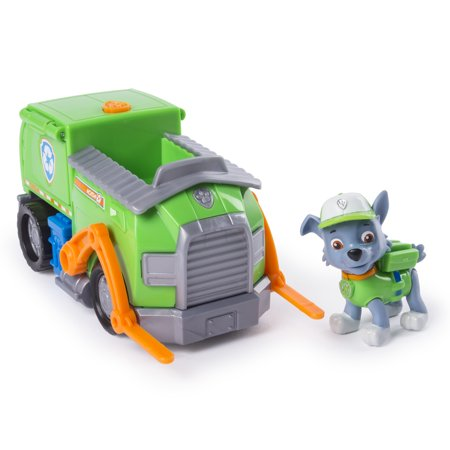 PAW Patrol, Rocky's Transforming Recycle Truck with Pop-out Tools and Moving Forklift, for Ages 3 and