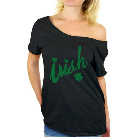 Awkward Styles Women's St Patrick's Day Shirts Off Shoulder Irish Shirts for Women Luck Green Irish Shamrock Shirt St Patrick's Day Tee St Patrick Day Party Green Shamrock Tshirt Proud Irish Roots - Walmart St Patricks Day Shirts