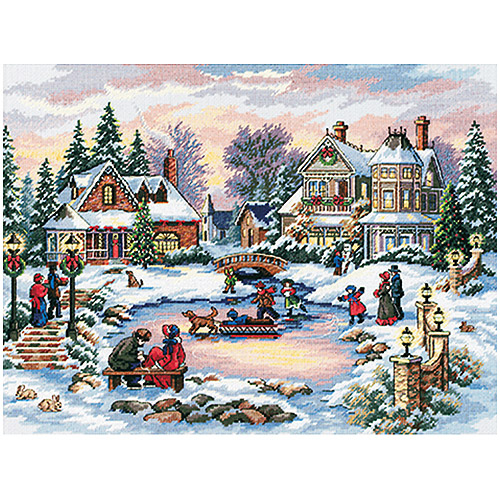 "A Treasured Time Counted Cross-Stitch Kit, 16"" x 12"""