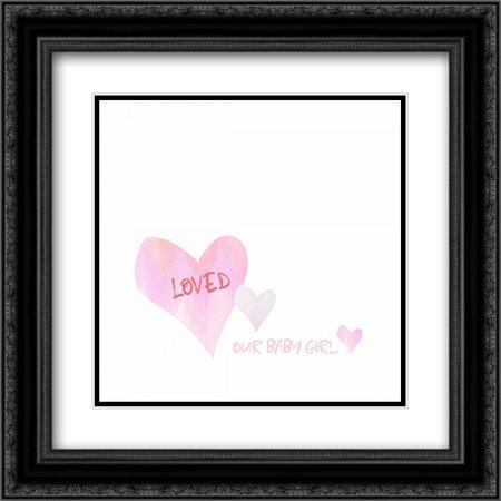 - Loved Baby Girl 2x Matted 20x20 Black Ornate Framed Art Print by Wingard, Pamela J.