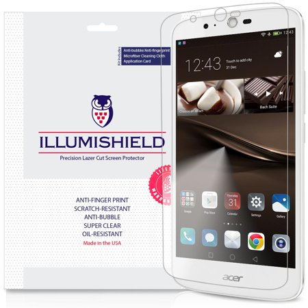 3x iLLumiShield Ultra Clear Screen Protector Cover for Acer Liquid Zest