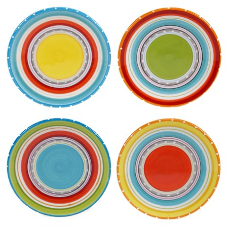 Certified International Tableware (Certified International  Mariachi 6-inch Canape Plates, Set of 4 )