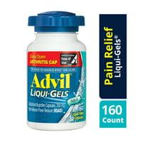 Advil Liqui-Gels Easy Open Cap (160 Count) Pain Reliever / Fever Reducer Liquid Filled Capsule, 200mg Ibuprofen, Temporary Pain Relief