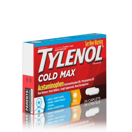 Tylenol Cold Max Daytime Caplets, 24 Ct  - Best Allergy Medicine