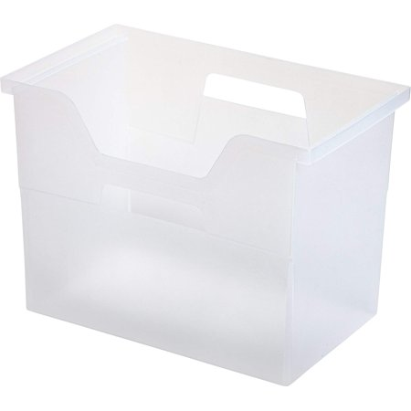 IRIS Desktop File Box. 4 Pack. Large. Clear