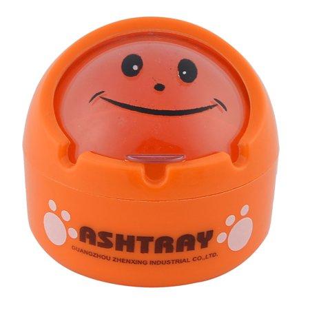 Phenolic Resin Ball Shaped Home Office  Ash Holder Case Ashtray Orange