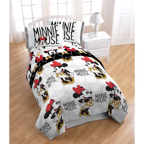 Disney Minnie Mouse Twin Bed in a Bag 5 Piece Bedding Set with BONUS Tote by Jay Franco