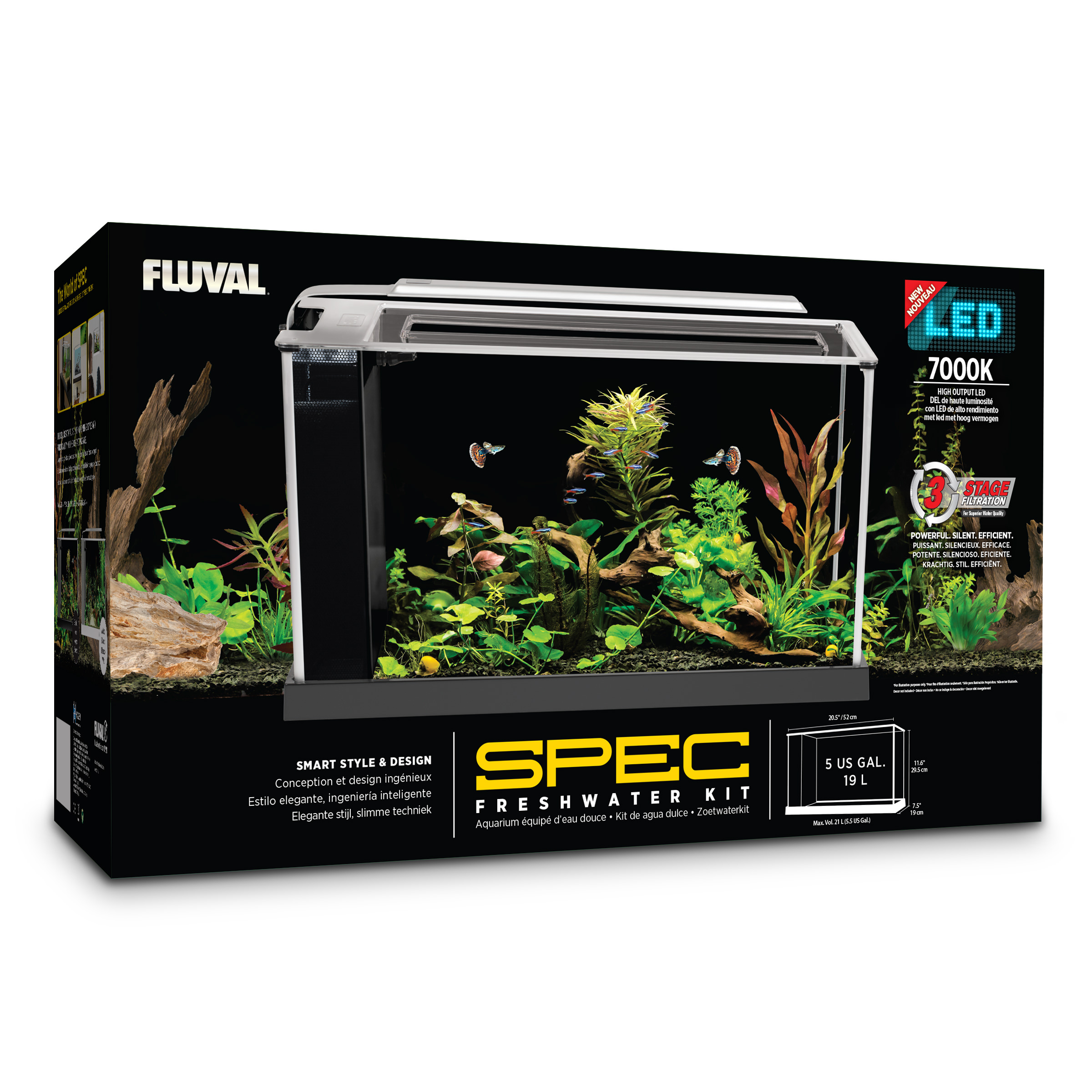 Fluval 5-Gallon Spec V Aquarium Kit by Hagen