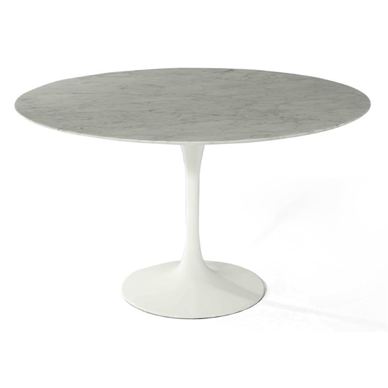 AEON Furniture Catalan Round Marble Top Dining Table in W...