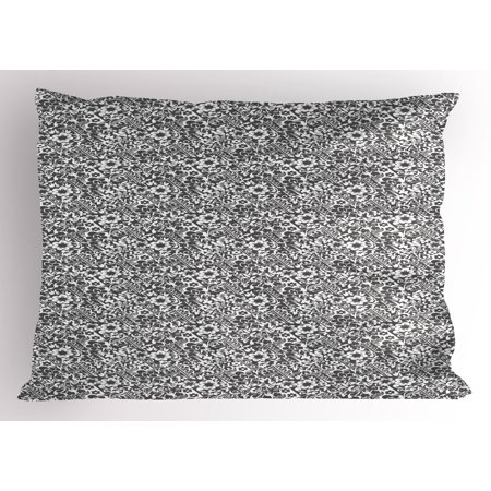 - Damask Pillow Sham Cute Daisy Blossoms Paisley Inspired Details Rich Royal Antique Composition, Decorative Standard Queen Size Printed Pillowcase, 30 X 20 Inches, Dark Taupe White, by Ambesonne