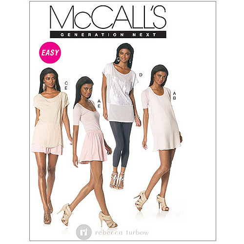 McCall's Pattern Misses' Tops, Dress and Skirt, DD (12, 14, 16, 18)