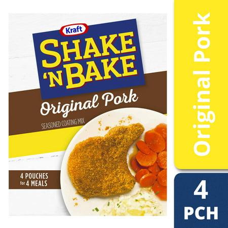 (2 Pack) Kraft Shake 'n Bake Original Recipe Pork Seasoned Coating Mix, 10 oz (Best Shake And Bake Pork Chop Recipe)