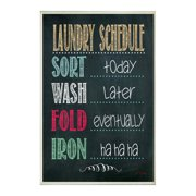 Stupell Industries Laundry Schedule Wall Mounted Whiteboard, 1.25 x 1