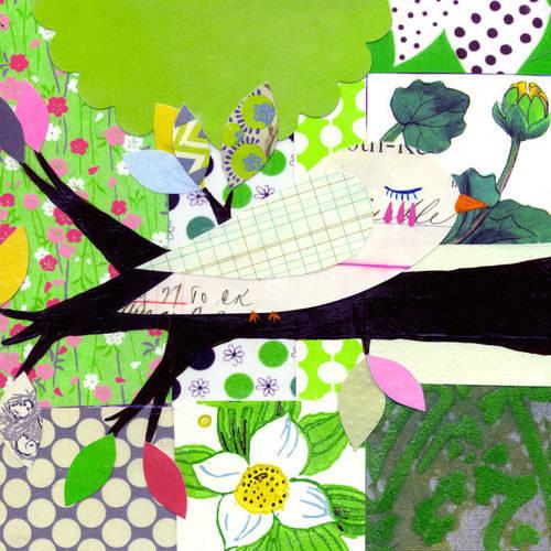 Oopsy Daisy - Feeling Bright Green Canvas Wall Art 24x24, Mati Rose McDonough