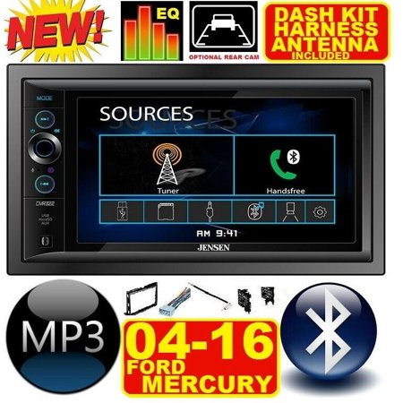 FITS 04-16 F & E SERIES JENSEN AM/FM USB/BLUETOOTH TOUCHSCREEN CAR RADIO STEREO PKG.  INCLUDES VEHICLE SPECIFIC INSTALLATION HARDWARE INCLUDING DASH KIT, WIRE HARNESS, AND ANTENNA ADAPTER WHEN REQIRED