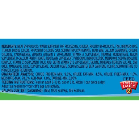 9Lives Meaty Pat? With Real Chicken & Seafood Wet Cat Food, 4 / 5.5 Oz Cans (Case of 6)