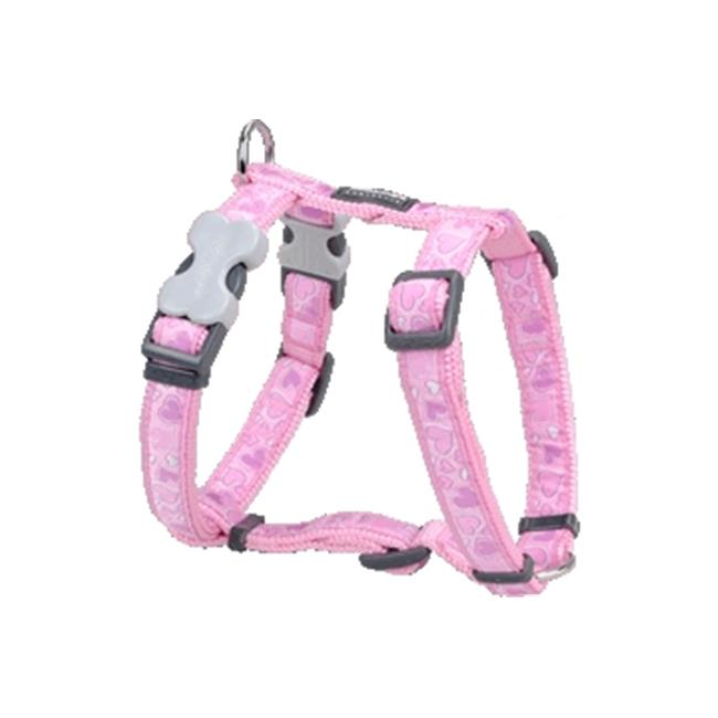 Red Dingo DH-BZ-PK-SM Dog Harness Design Breezy Love Pink, Small