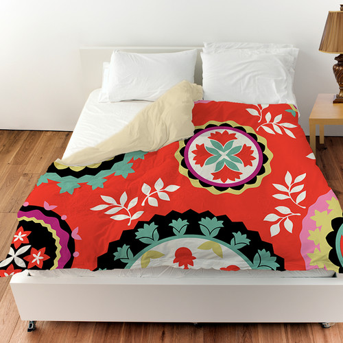 Manual Woodworkers & Weavers Bird Berries Susani Duvet Cover