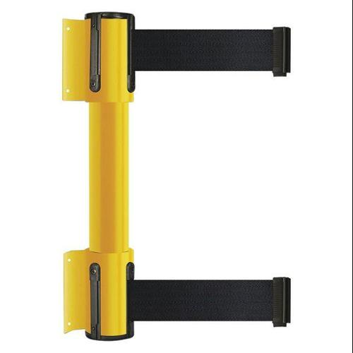 TENSATOR 896T2-35-STD-B9X-C Belt Barrier, 7-1/2 ft, 2 Belts, Yellow