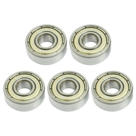 Electric Motor Metal Shielded 6x17x6mm 606ZZ Deep Groove Ball Bearing 5Pcs