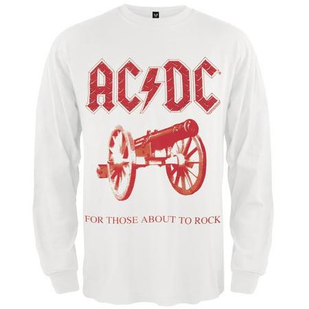S-XXL AC//DC Cannon for thoose About Rock T-shirt pour femme Gris