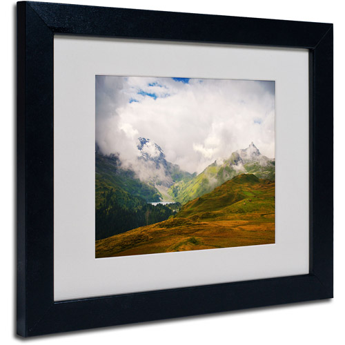 """Trademark Fine Art """"Peaceful Switzerland"""" Matted Framed by Philippe Sainte-Laudy"""