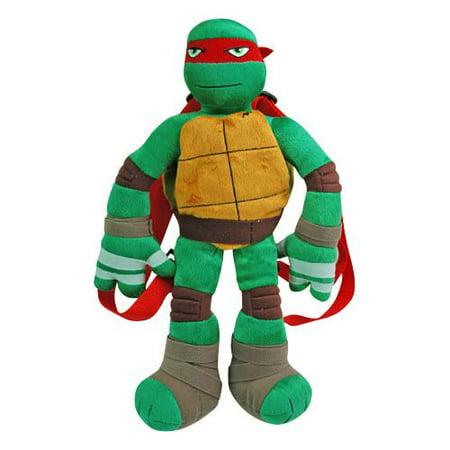 Plush Backpack - - Raphael Red TMNT - Ninja Turtle Bookbag