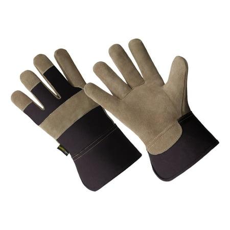 Cow Split Leather Glove (LP4321-L, Men's Cow Split Leather Palm Work)