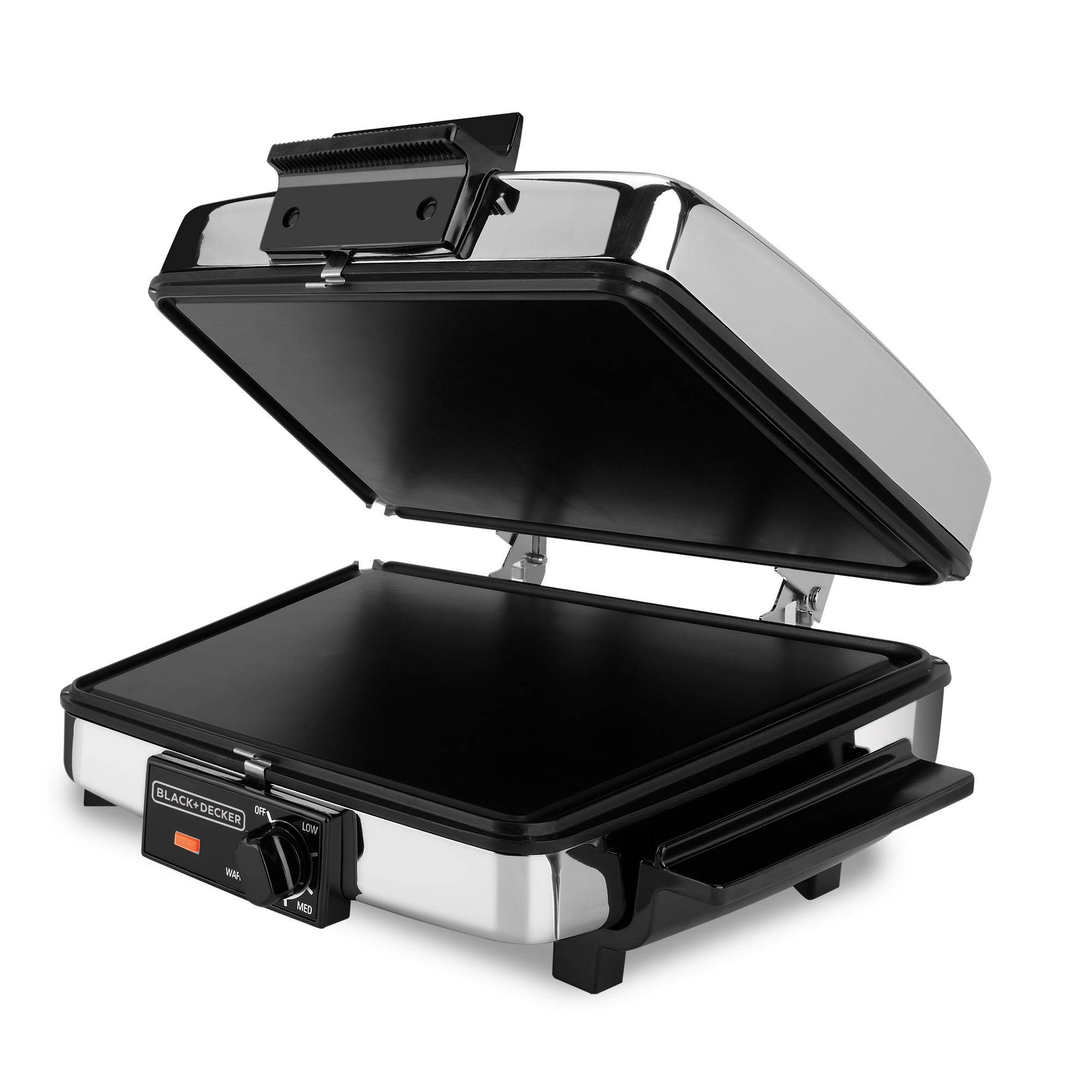 BLACK+DECKER 3-in-1 Waffle Maker & Indoor Grill, Griddle, G48TD
