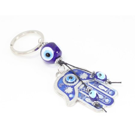 Blue Evil Eye Hamsa Hand Keychain Blessing Protection Religious Good Luck Gift Hamsa Hand Protection