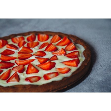 LAMINATED POSTER Cheese Cake Cream Pie Strawberry Cake Tart Dessert Poster 24x16 Adhesive (Cream Cheese Pie)