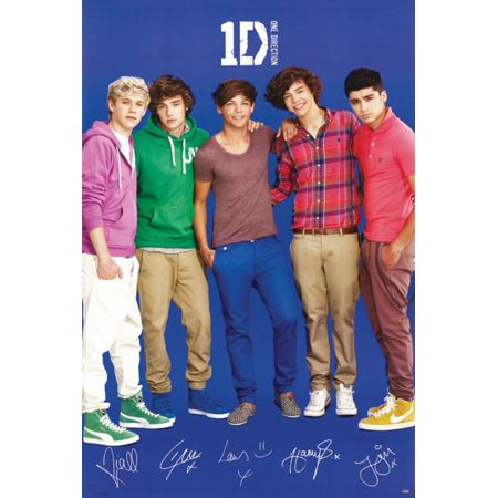One Direction Blue Poster  24   X 36