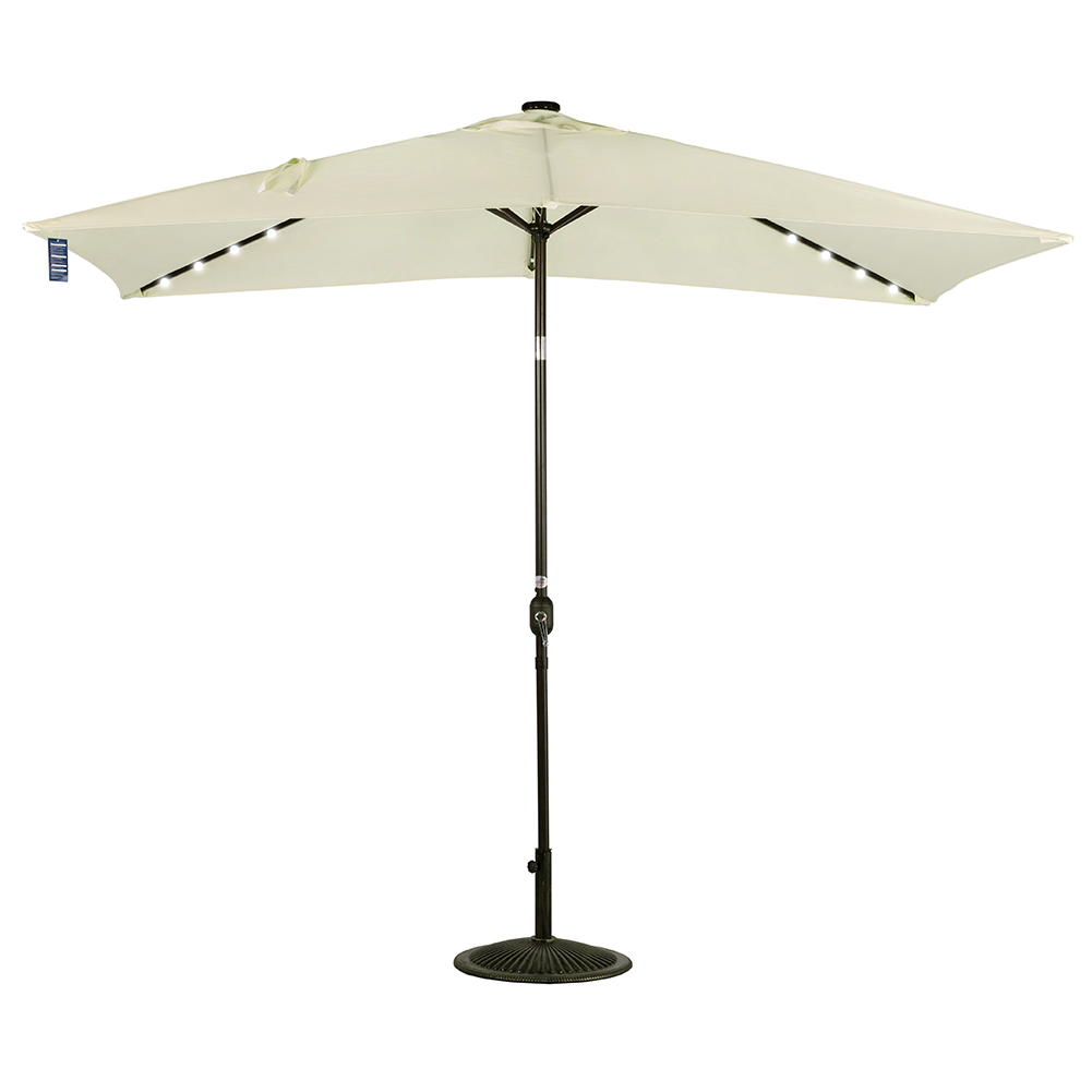 Sundale Outdoor Rectangular Solar Powered 24 LED Lighted Outdoor Patio Umbrella with Crank... by Sundale Outdoor