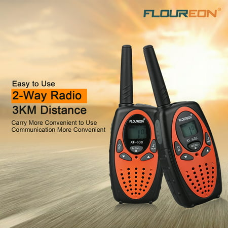 Kids Walkie Talkies, FLOUREON 22 Channel Two-Way Radio Best for Kids Long Range 3000M Handheld Outdoor Interphone/Portable Toy Radio Transceiver(2