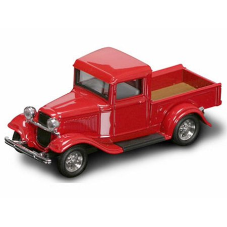 (1934 Ford Pickup Truck, Red - Yatming 94232 - 1/43 Scale Diecast Model Toy Car)