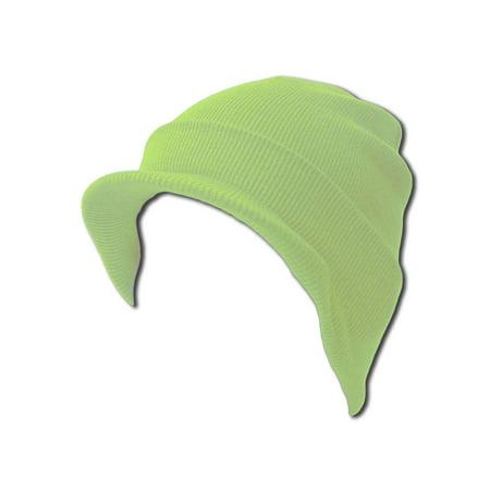 TopHeadwear Cuff Beanie Cap with Visor Dc Star Visor Beanie