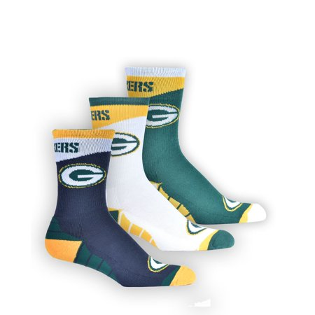 NFL NFL GREEN BAY PACKERS OFFICIALLY LICENSED TEAM APPAREL 3 PACK