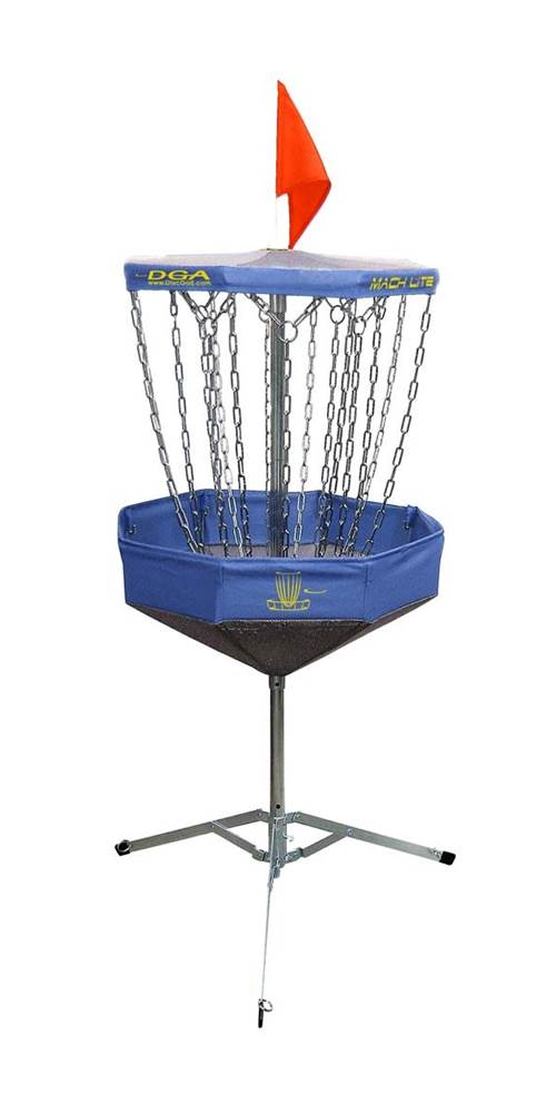 Mach Lite Portable Practice Disc Golf Basket (Blue) by DGA-Disc Golf Assoc.