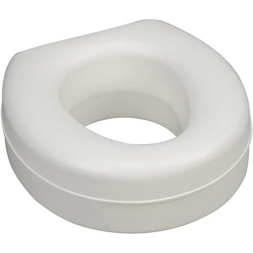 HealthSmart Deluxe Plastic Toilet Seat Riser, White