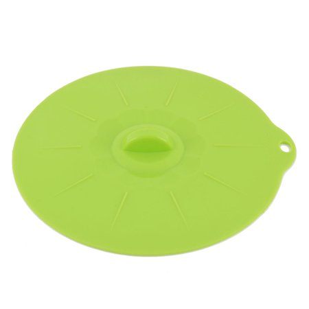 Green Covered Vegetable Dish - Home Kitchen Silicone Food Dish Storage Bowl Pan Container Lid Cap Cover Green