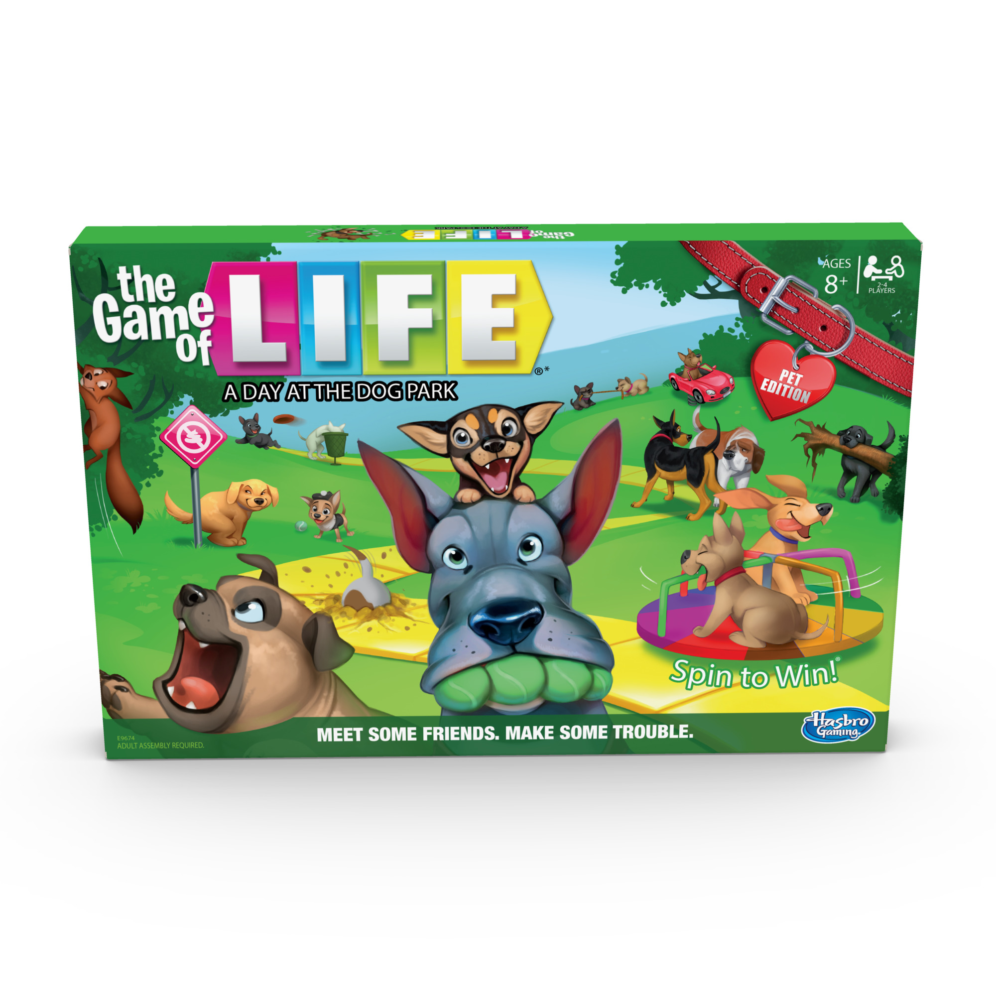 Only At Walmart: The Game of Life: A Day at the Dog Park Board Game - Walmart.com