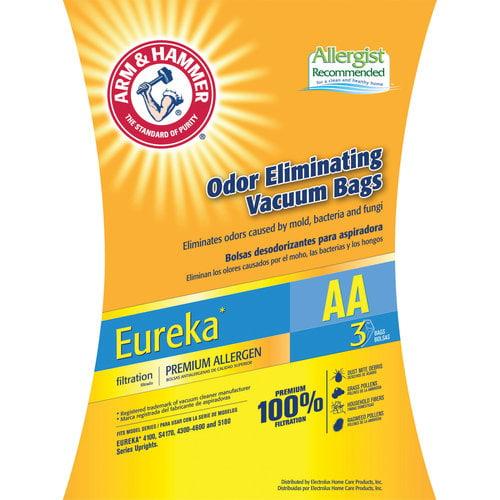 Arm & Hammer Premium Filtration Odor Eliminating Vacuum Bags, Eureka AA Premium, 3 Pack