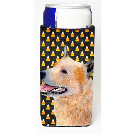 Australian Cattle Dog Candy Corn Halloween Portrait Michelob Ultra bottle sleeves for slim cans 12 - Halloween Date Australia