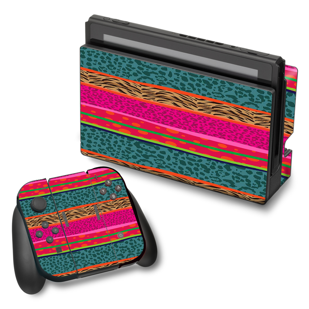 Skins Decals For Nintendo Switch Vinyl Wrap / Leopard Zebra Patterns Colorful