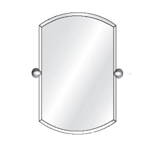 Afina Radiance Tilt Double Arch Frameless Wall Mirror