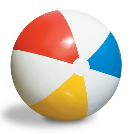 Swimline Inflatable 36-Inch Classic Rainbow Beach Ball For Pool/Lake | 90036 - Rainbow Beach Ball