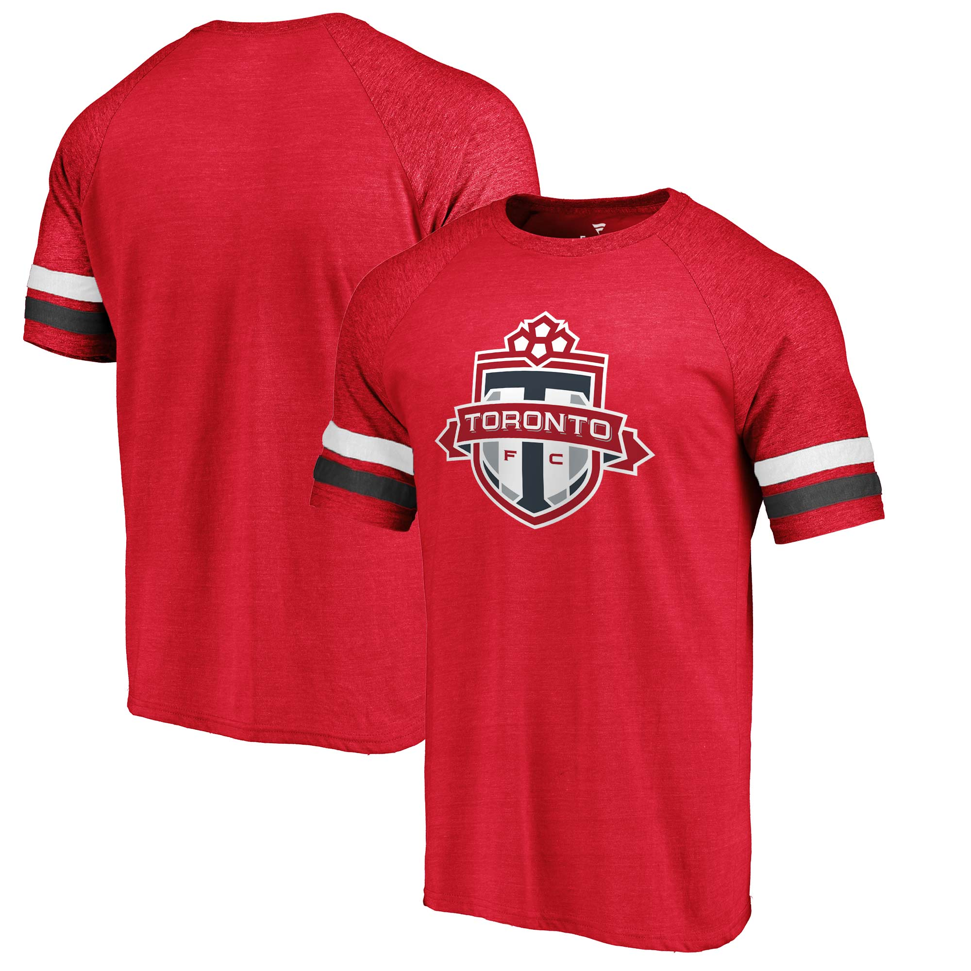 Toronto FC Fanatics Branded Tri-Blend Raglan T-Shirt - Red