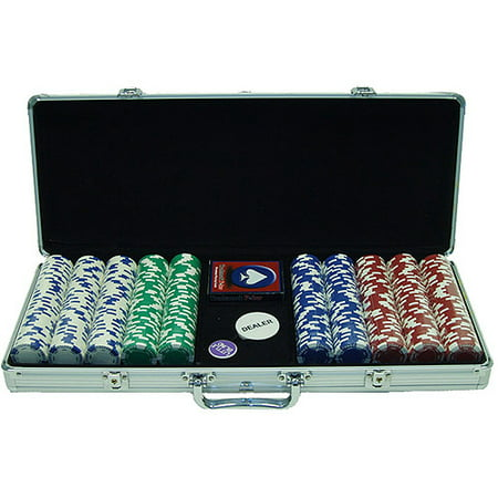 Trademark Poker 500pc 11.5g Hold Em Chips with Aluminum (Aluminum Poker Chip Case Holds)