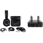 Audio Technica ATH-M50X Over Ear Studio Headphones W/ Case+Tube Headphone Amp